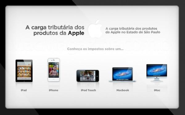 Carga tributária - Apple Brasil