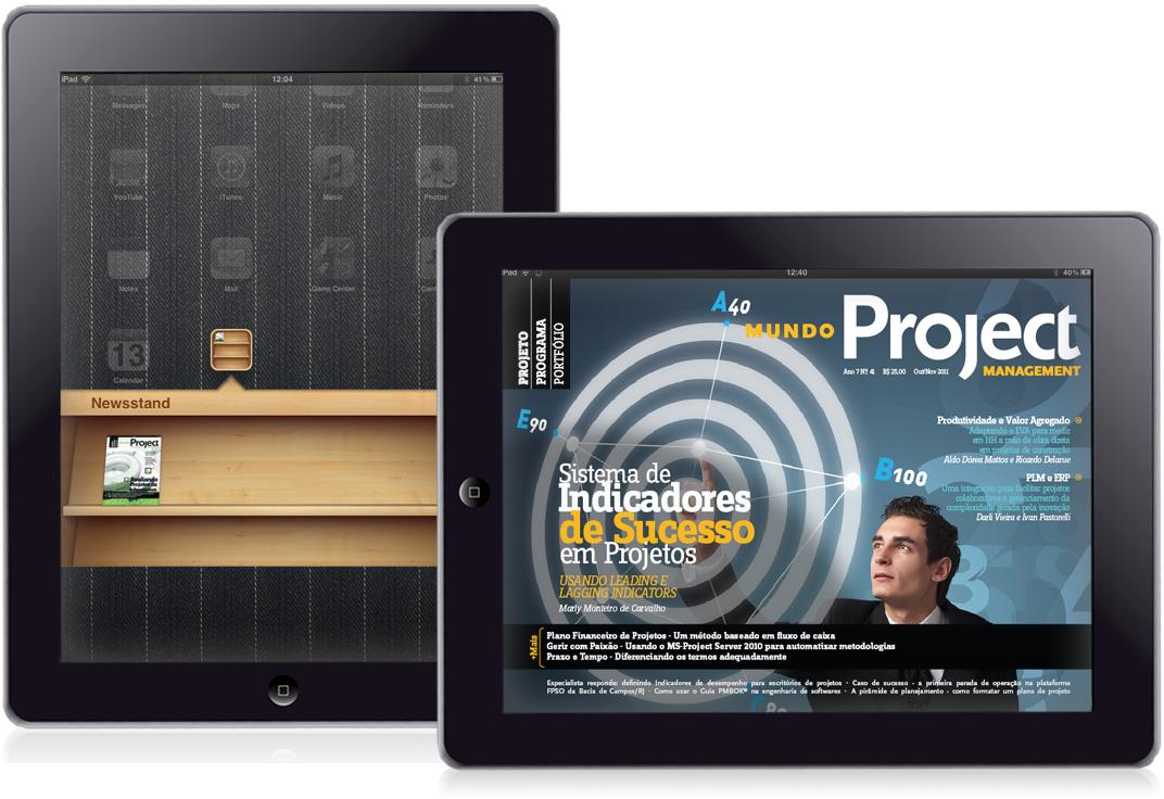 Revista MundoPM em iPads com Newsstand