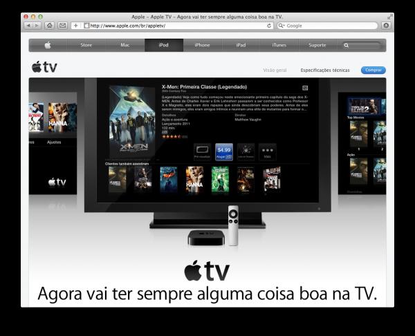 Página brasileira do Apple TV