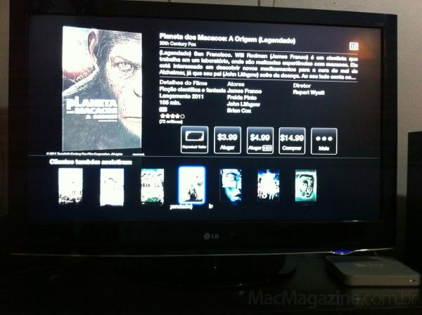 iTunes Store Brasil em Apple TV de primeira geração