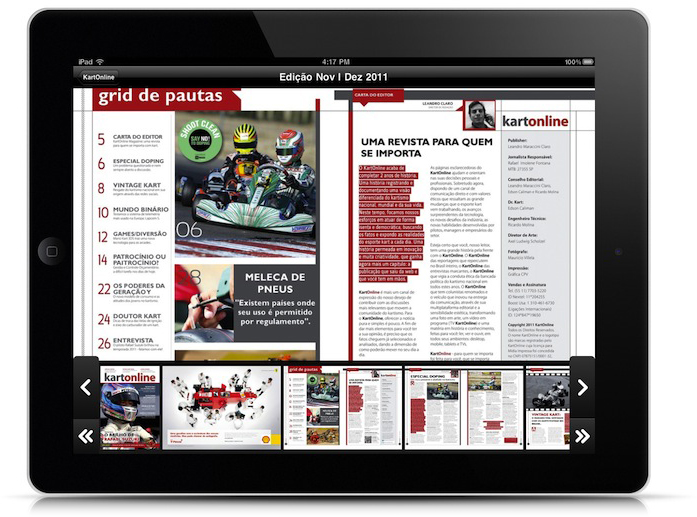 Revista KartOnline no iPad