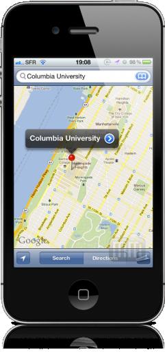 Mapa - Columbia University