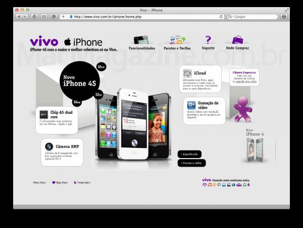 iPhone 4S na Vivo