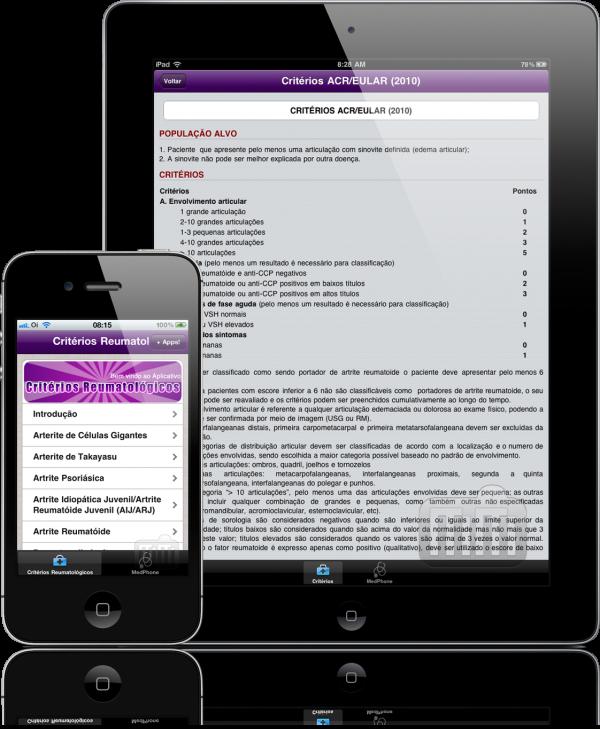 Critérios Reumatologia - iPad e iPhone