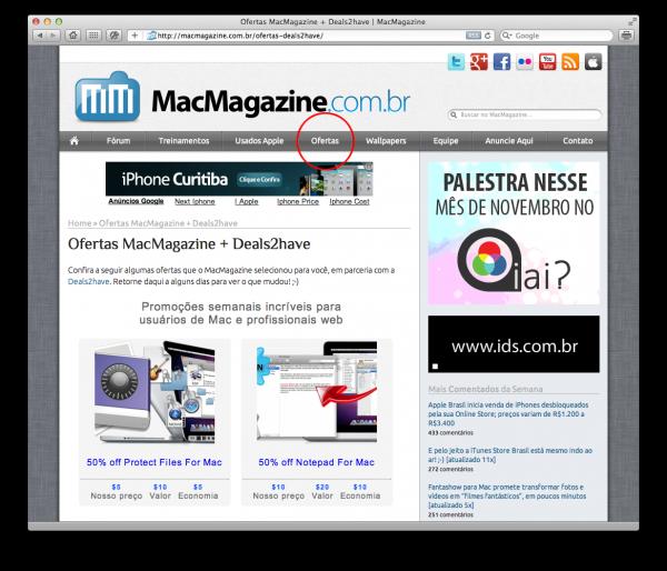 MacMagazine e ofertas Deals2have