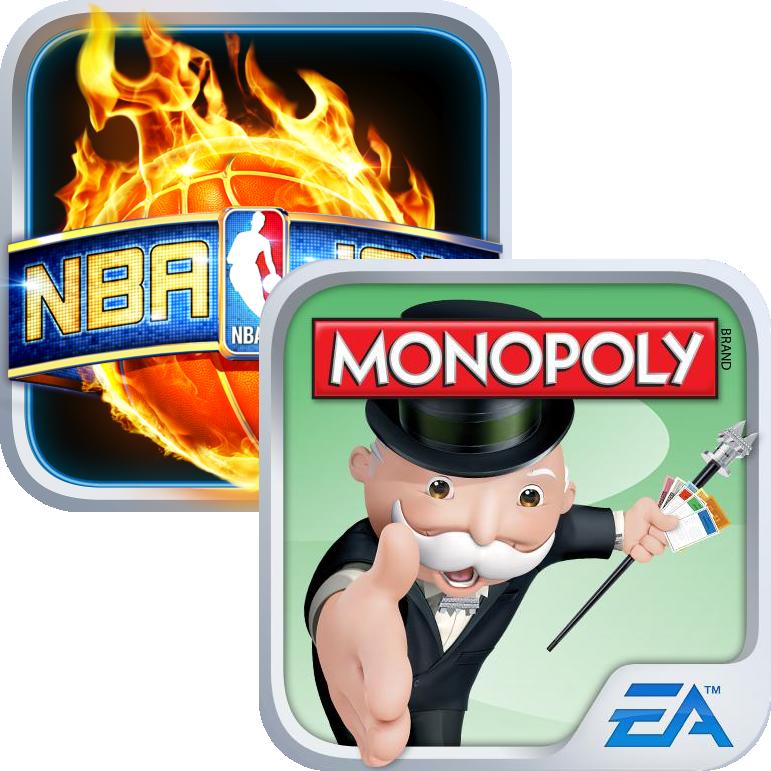 Ícones - NBA JAM e MONOPOLY