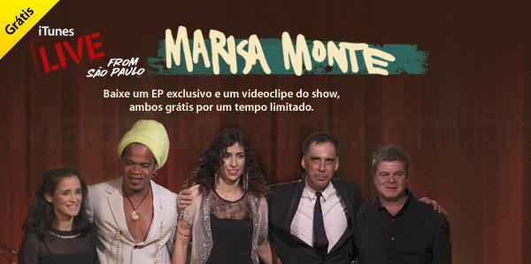 iTunes Live em São Paulo com Marisa Monte