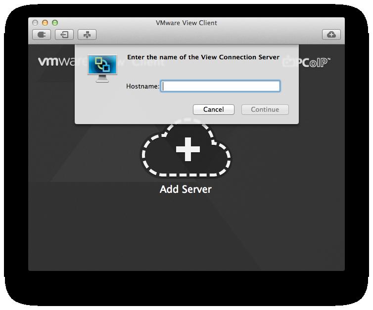 VMware View Client no Mac OS X