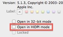 Open in HiDPI mode