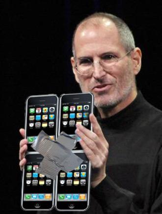 Big iPhone nas mãos do Steve Jobs