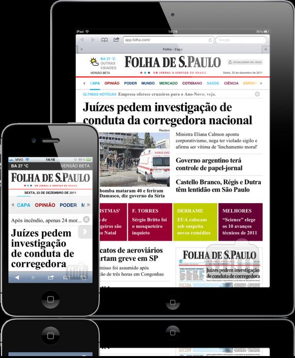 Folha - iPad e iPhone