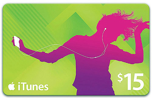 iTunes Gift Card de US$15