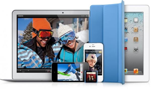 Família recente de produtos Apple – iProducts