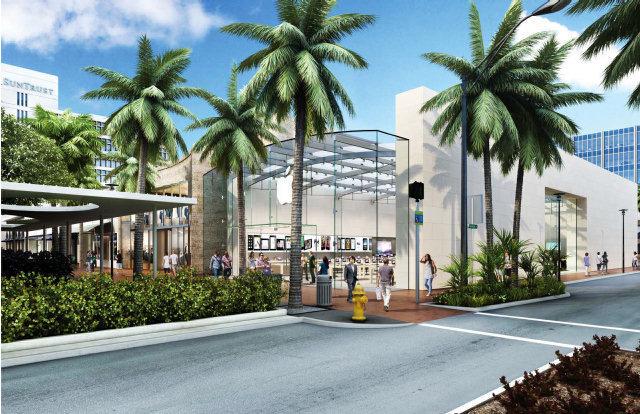 Projeto de nova Apple Retail Store em Lincoln Road