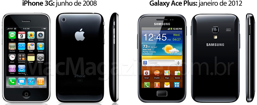 iPhone 3G vs. Samsung Galaxy Ace Plus