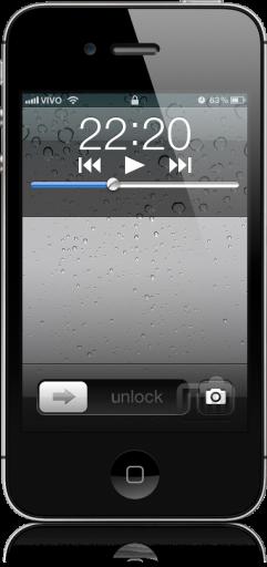 Câmera do iPhone com a tela bloqueada