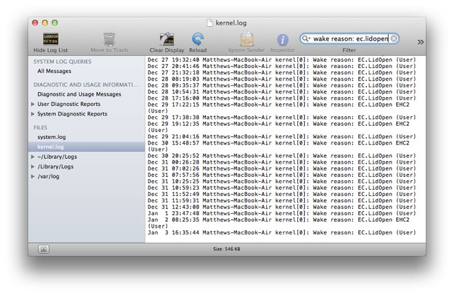Console do Mac OS X