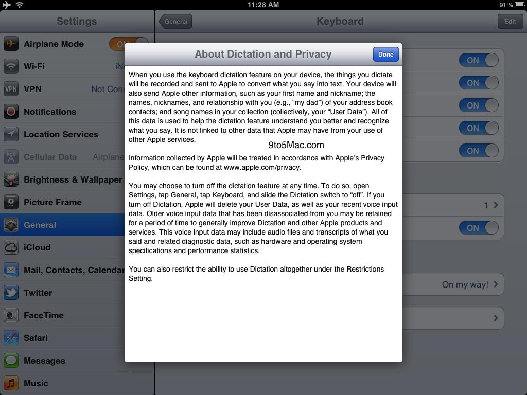 Siri Dictation no iPad?