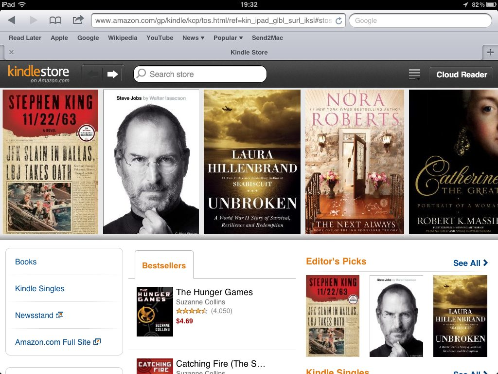 Kindle Store via web no iPad