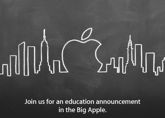 Evento da Apple sobre educação (convite)