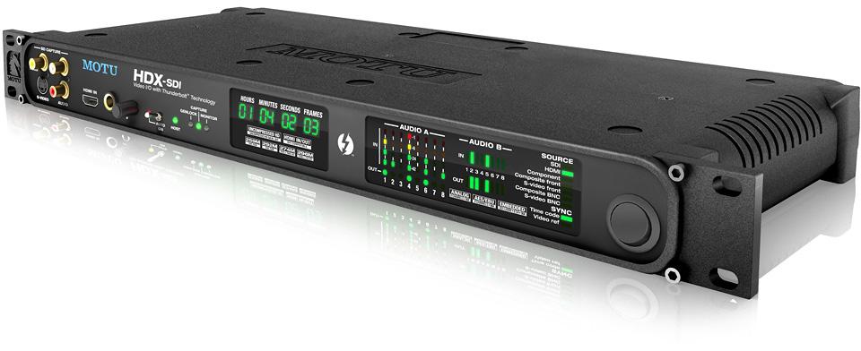 MOTU HDX-SDI com Thunderbolt