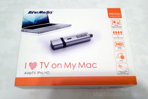 Caixa - AVerTV iPro HD, da AVerMedia