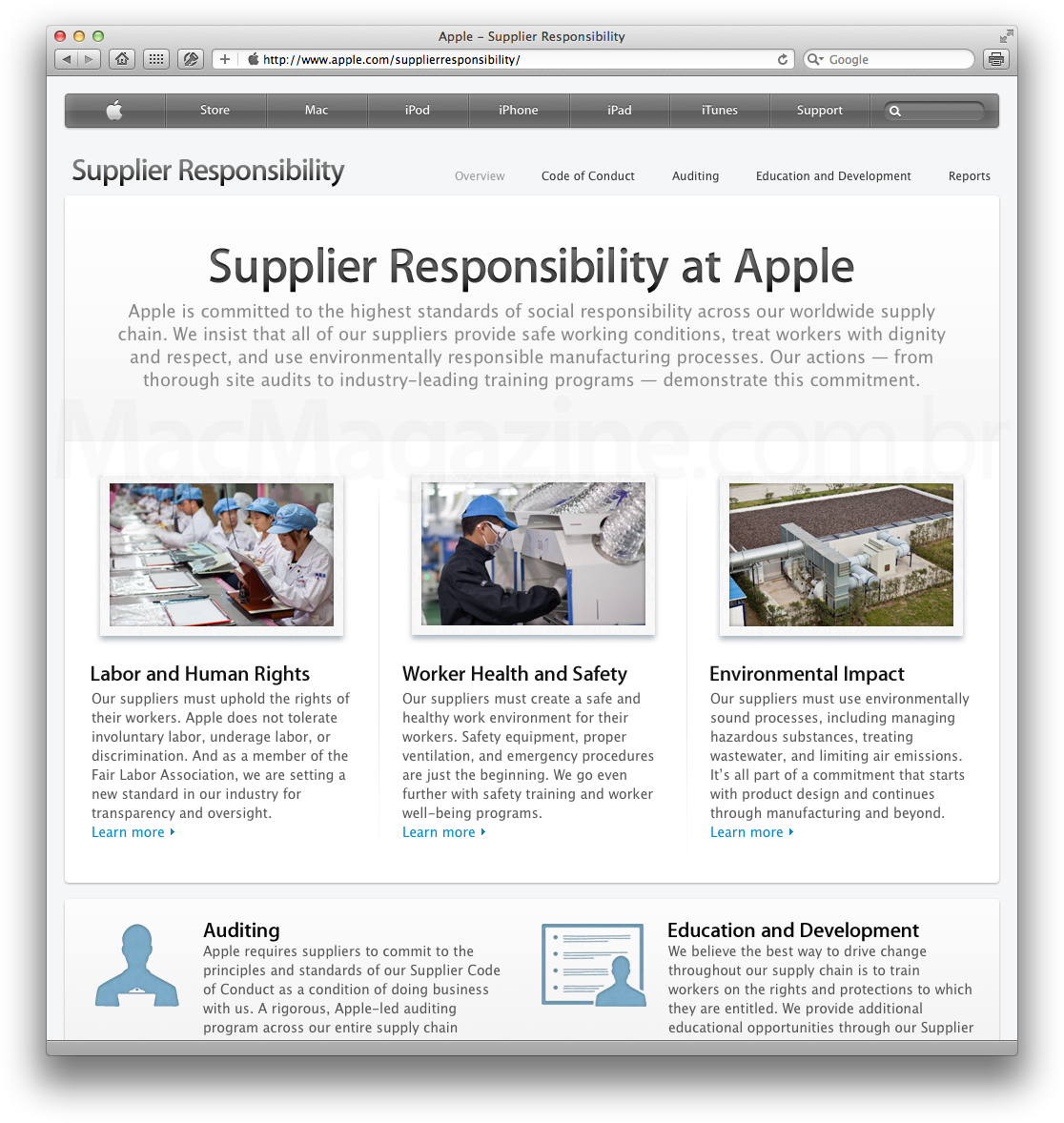 Apple - Supplier Responsibility