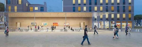 Imagem de uma futura loja da Apple em Aix-en-Provence