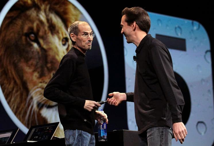 Steve Jobs e Scott Forstall