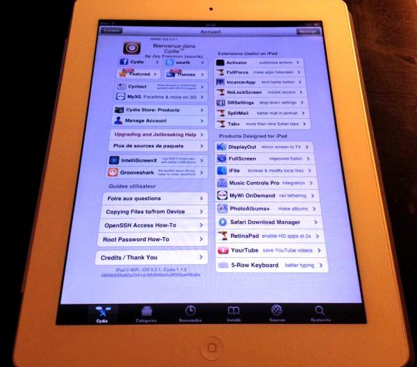 iPad 2 com jailbreak untethered