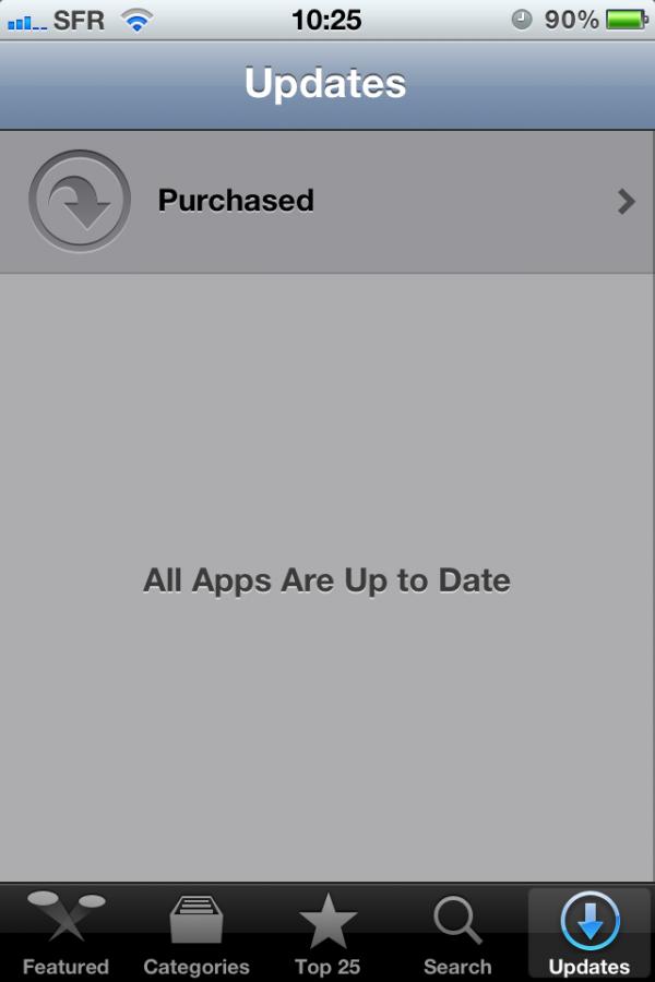 Atualização de apps - iOS