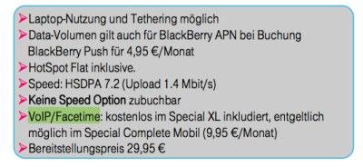 Documentos da Deutsche Telekom - FaceTime via rede 3G