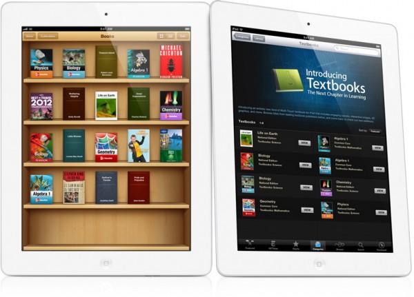 Livros didáticos (textbooks) em iPads