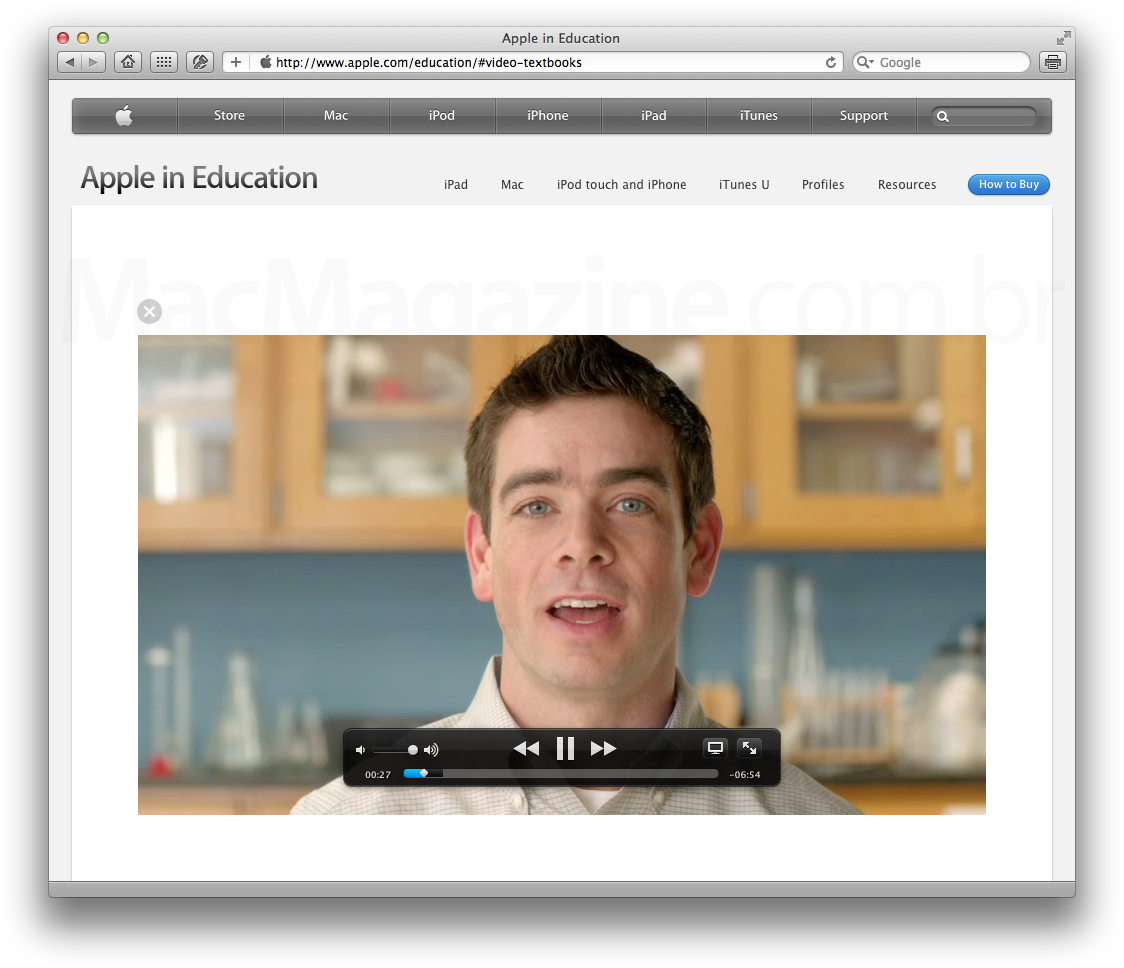 Vídeo sobre textbooks no iPad