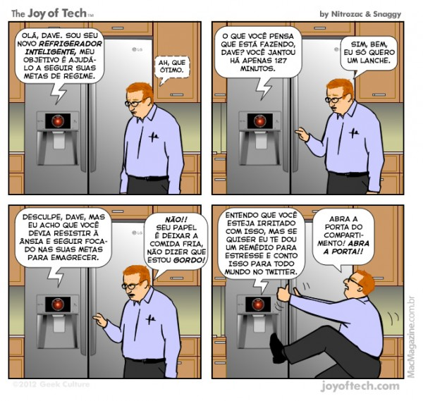 Joy of Tech - Refrigerador inteligente