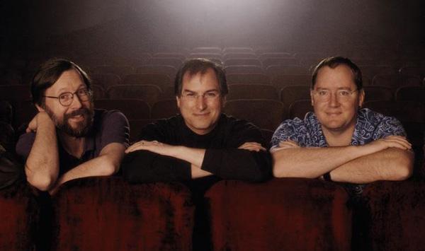 Ed Catmull, Steve Jobs e John Lasseter - Pixar