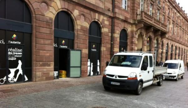 Construção da Apple Store em Estrasburgo, na França