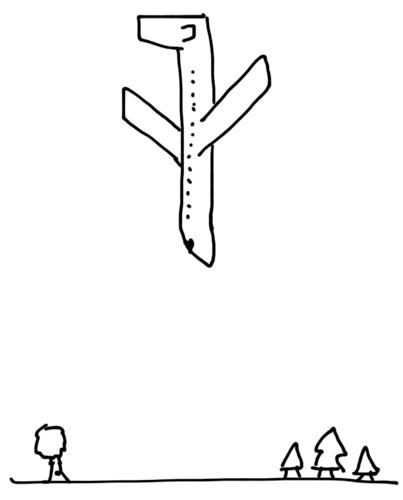 Avião caindo — desenho representando a situação atual da RIM