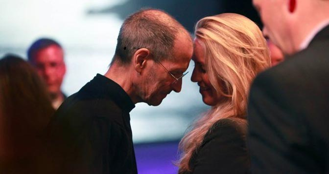 Steve Jobs e Laurene Powell Jobs