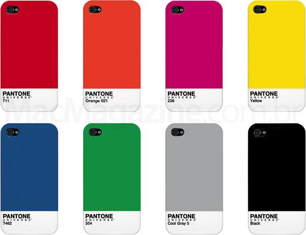 Cases da PANTONE para iPhones 4 e 4S
