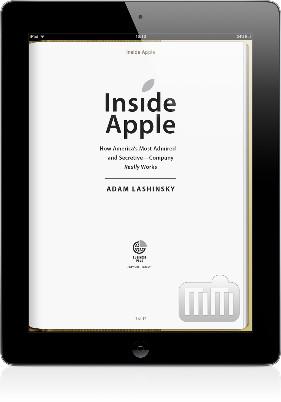 Livro Inside Apple no iPad