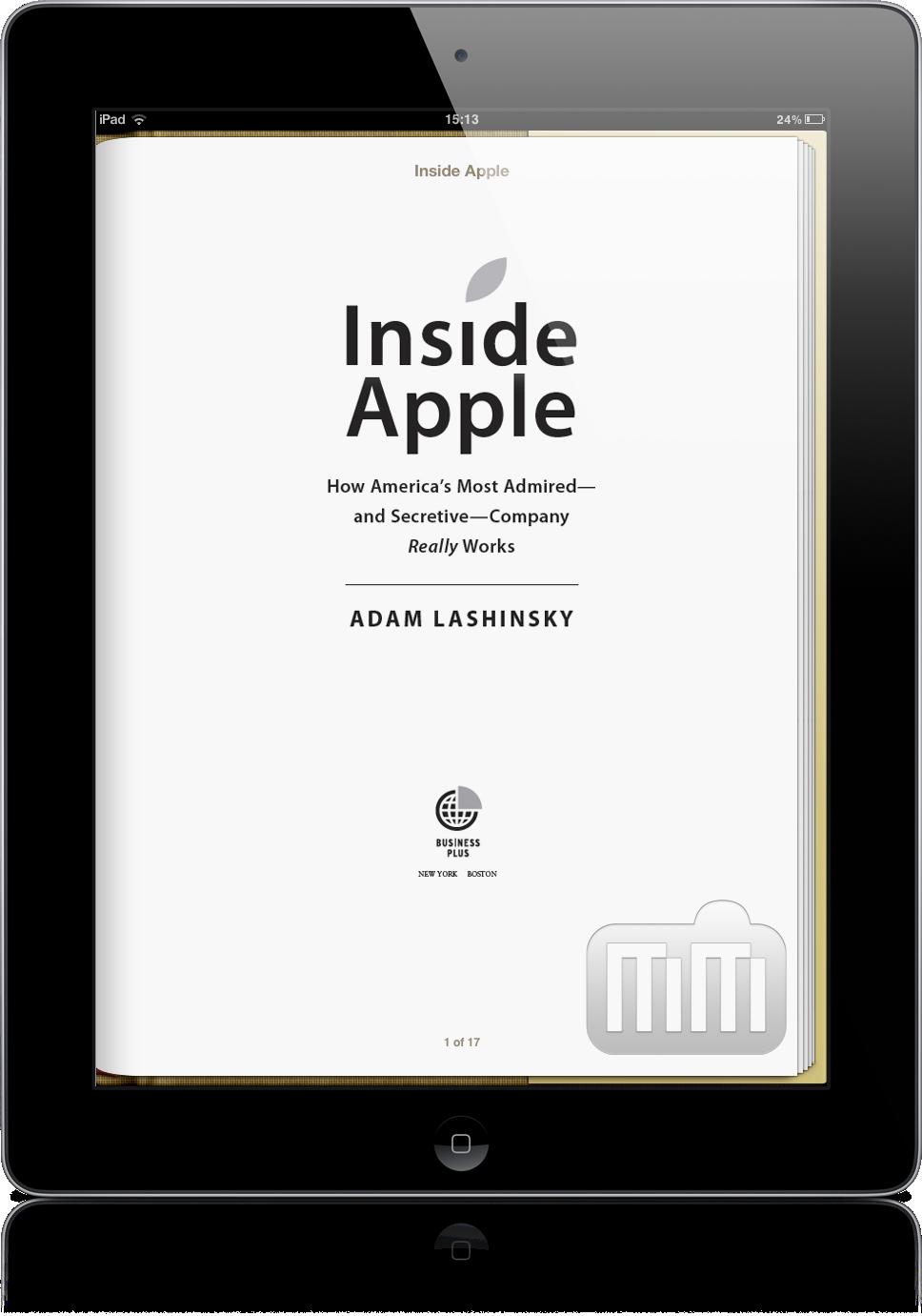 Livro Inside Apple no iPad