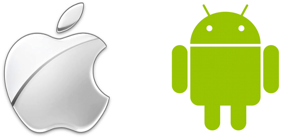 Logo Apple e Android