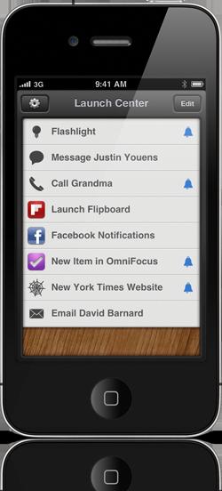 Launch Center - iPhone