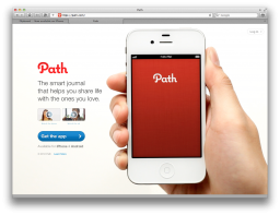 Site do Path no Safari