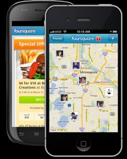 foursquare - Android e iPhone