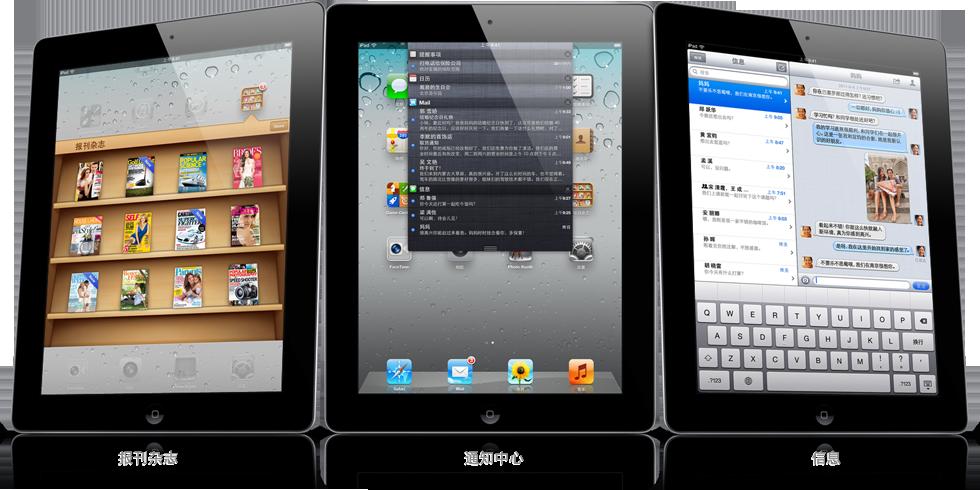 iPad na China - iOS chinês