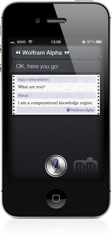 Wolfram|Alpha na Siri do iPhone 4S