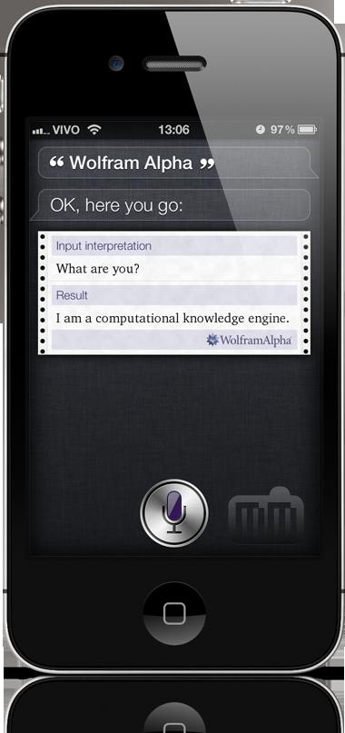 Wolfram|Alpha na Siri do iPhone 4S