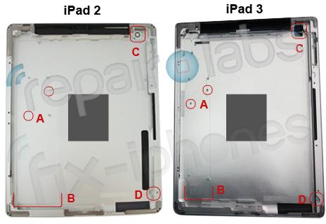 Traseira do iPad 3
